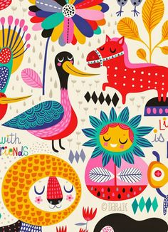 Overtime and fun conversational patterns by helen dardik. Art Textile, Textile Patterns, Print Patterns, Pattern Illustration, Children's Book Illustration, Magazine Illustration, Surface Pattern Design, Pattern Art, Unique Toys