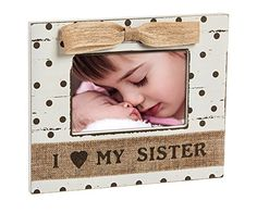 Shabby Chic Baby Loves Sister 4X6 Wooden Picture Frame * This is an Amazon Affiliate link. Be sure to check out this awesome product.
