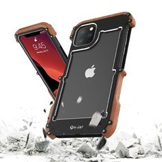 New Hybrid Natural Wood Aluminum Metal Frame Phone Case for iPhone 11 Pro Max (Black, iPhone Coque Iphone, Iphone 11, Apple Iphone, Girly Phone Cases, Iphone Cases, New Headphones, Accessoires Iphone, Max Black, Latest Iphone