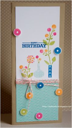 stampin'up card..different size.
