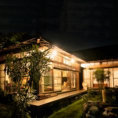 """Old houses, the appearance is different really in the day and night. An old day of appearance, such as the trees, the night suddenly life is lit such warmth Do not ."" family · nao_noda of interior illustration. Modern Japanese Architecture, Japanese Interior Design, Architecture Images, Sustainable Architecture, Pavilion Architecture, Japanese Design, Residential Architecture, Japanese Style House, Traditional Japanese House"