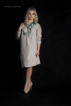 lniana tunika - Estera-Grabarczyk - Sukienki ekologiczne