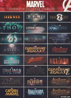 Marvel Cinematic Universe Timeline - visit to grab an unforgettable cool 3D Super Hero T-Shirt!