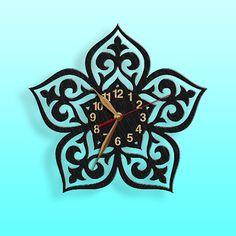 Reloj de pared negro adornos de madera negro arte cuadros
