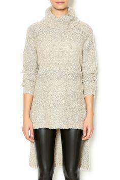 High Low Turtleneck Sweater - main