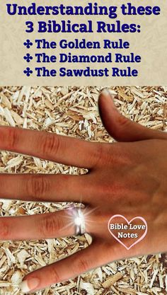 Many are aware of the Golden Rule, but there's also a Diamond Rule and a Sawdust Rule in in Scripture. This devotion explains. Many are aware of the Golden Rule, but there's also a Diamond Rule and a Sawdust Rule in in Scripture. This devotion explains. Bible Topics, Bible Object Lessons, Christian Devotions, Christian Life, Bible Verses Quotes, Bible Scriptures, Overcome Evil With Good, Book Of James, Scripture Study