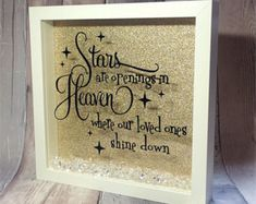 Inspirational quote memorial box picture box by AllThatGlittersNE