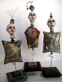 Bobble Dolls- previous feature of Polymer Clay Daily April 10, 2012