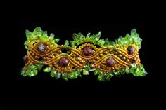Micro macrame bracelet by Nadja Shields. Visit Imbali Crafts for marame tutorials and more