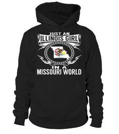 Illinois Girl in a Missouri World State T-Shirt #IllinoisGirl