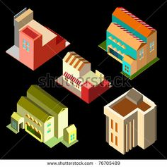set of vector isometric game elements #game #elements #popular
