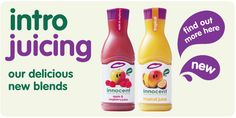 Intro Juicing: our delicious new blends Innocent Drinks, Juicing, Hot Sauce Bottles, Yummy Drinks, Helping People, Juice