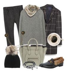 Silver Fur by tdwsammy on Polyvore featuring moda, Pandora, Inverni, Gucci fur horsebit loafers pelliccia, Zara, Tally & Hoe and CELINE