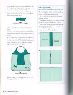 . Bag Patterns To Sew, Sewing Patterns, Knitting Needles, Patron De Couture, Dress Patterns