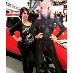 """""""Super Silly!  #latergram #NYAutoShow #nyc #kiahamster #catsuit #shenanigans #posing #werk #silly #carshow"""" Photo taken by @vavooma on Instagram, pinned via the InstaPin iOS App! http://www.instapinapp.com (04/12/2015)"""