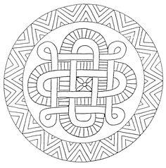 Coloriages Mandala en étoiles - image à imprimer #18
