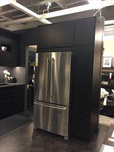 Tall Kitchen Pantry Cabinet, White Kitchen Cabinets, Ikea Kitchen, Kitchen Flooring, Kitchen Decor, Shaker Cabinets, Tall Cabinets, High Gloss White Kitchen, Kitchen Words