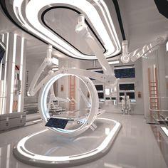 Sci Fi Laboratory Room - HIGH POLY model of Futuristic Sci Fi Laboratory Interior. Design made by my self - cermaka. Spaceship Interior, Futuristic Interior, Retro Futuristic, Futuristic Technology, Futuristic Design, Technology Design, Futuristic Architecture, Architecture Design, Minimalist Architecture
