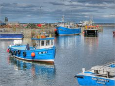 Seahouses Harbour, Northumberland 2 miles from Stone's Throw Beadnell