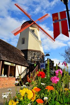 Solvang, Ca. An adorable Danish community that feels like a movie set or like you've walked into another country. About 120 miles from Los Angeles. One Hour north inland from Santa Barbara.