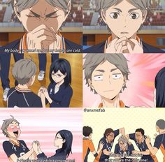 This was really funny and cute but I was kinda wishing Daichi had done it instead of Kiyoko ^_^