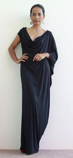 Long Black Dress by Nuichan
