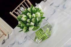 white tulips centerpieces - Google Search