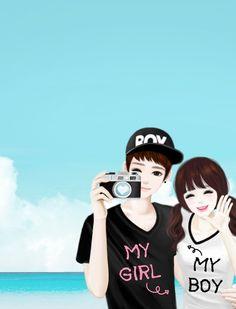 Love ♡ ♥ Cartoon Girl Images, Love Cartoon Couple, Chibi Couple, Anime Love Couple, Cute Anime Wallpaper, Cute Cartoon Wallpapers, Anime Couples Manga, Cute Anime Couples, Couple Illustration