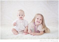 Sweet little 6 month old photo shoot.  Sisters, siblings shoot. Phoenix Childrens Photography