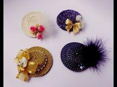 Coisas que Gosto: Mini Chapéu Aula 97 Hat Crafts, Flower Crafts, Diy Flowers, Diy And Crafts, Arts And Crafts, Plastic Bottle Caps, Bottle Cap Art, Cardboard Crafts, Fabric Crafts