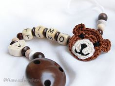 Pacifier clip chain / Dummy holder keeper by mamasliebchen on Etsy, $17.90