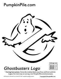 Ghostbusters - pumpkin carving stencil