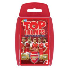 Arsenal FC edition of the classic card game Top Trumps featuring members of the current AFC team. FREE DELIVERY on all of our football gifts Arsenal Merchandise, The Time In Between, Classic Card Games, Premier League Teams, Everything Free, Trump Card, Top Trumps, Arsenal Football