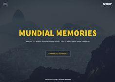 Mundial Memories #webdesign #inspiration #UI