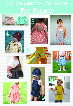 10 Patterns to Love for Summer!