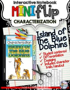 Island of the Blue Dolphins: Interactive Notebook Characterization Mini Flip ($)