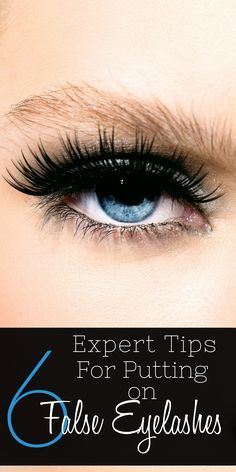how to put on false eyelashes video
