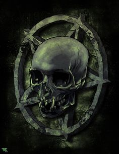 Skull/Pentagram by heathdro