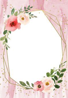 Invitations Quinceanera, Quinceanera Themes, Wedding Invitations, Deco Baby Shower, Baby Shower Flowers, Invitation Background, Floral Invitation, Flower Background Wallpaper, Flower Backgrounds
