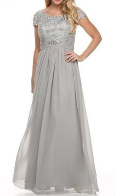 Cap Sleeve Mother of the Bride Dress Plus Size Gown