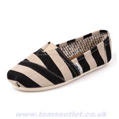 Toms Shoes Canvas Stripe Womens Artist Discount
