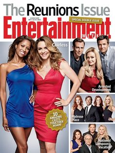 """Stacey Dash And Alicia Silverstone cover @EW Entertainment Weekly Oct 12, 2012 """"The Reunions"""" issue"""