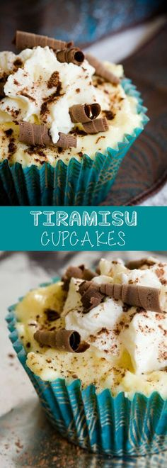 Love easy cupcake recipes? This Tiramisu cupcake is the best -has very little cake (ladyfingers) and LOTS of mascarpone and whipped cream topping! For more delicious baking desserts recipes and homemade sweet treats, check us out at #cupcakeproject. #dessert