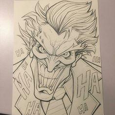 Joker Drawings, Marvel Drawings, Pencil Art Drawings, Cool Art Drawings, Art Drawings Sketches, Cartoon Drawings, Easy Drawings, Cartoon Art, Joker Sketch