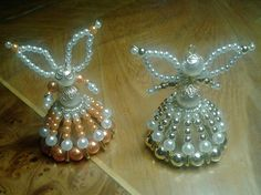 Handmade Beaded Angels Angel Girl Decoration by TintinHandmade, €15.00