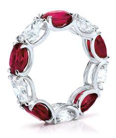 Ruby, Diamond and Platinum Band