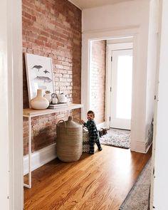 Home brick interior, interior ideas, brick wallpaper, wallpaper ideas, expo Interior Design Living Room Warm, Brick Interior, Room Interior, Living Room Decor, Living Room Brick Wall, Interior Ideas, Brick Wall Decor, Exposed Brick Walls, Bedroom Wall