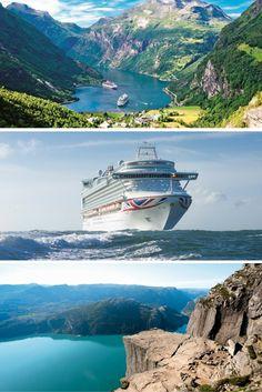 P&O Cruises', 7-night, Norwegian Fjords cruise from ONLY £649pp #Cruise #Deals #Norway #Fjords P&o Cruises, Norway Fjords, Cruise Holidays, Royal Princess, Night, World, Travel, Viajes, Destinations