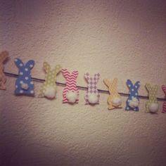 DIY Spring Easter Bunny Bunting Banner   Crafty Bits