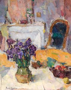 Bessie Davidson - Interior with Iris Australian Painters, Australian Artists, Paintings I Love, House Paintings, Dutch Painters, Impressionist Paintings, Drawing Lessons, Art Studies, Color Of Life